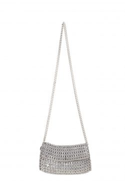 Vania Small Silver Chain Bag
