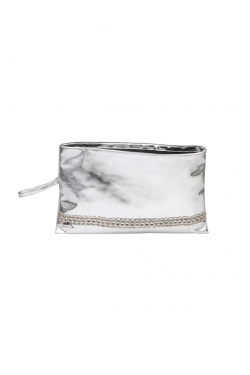 Eco Silver Pochette Bag